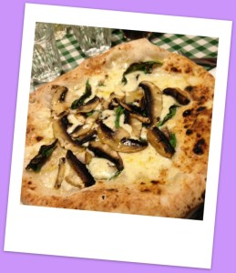 Portobello mushroom and truffle pizza from Pizza Pilgrims