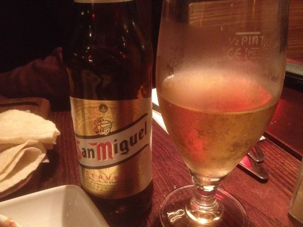 San Miguel, Las Iguanas, beer